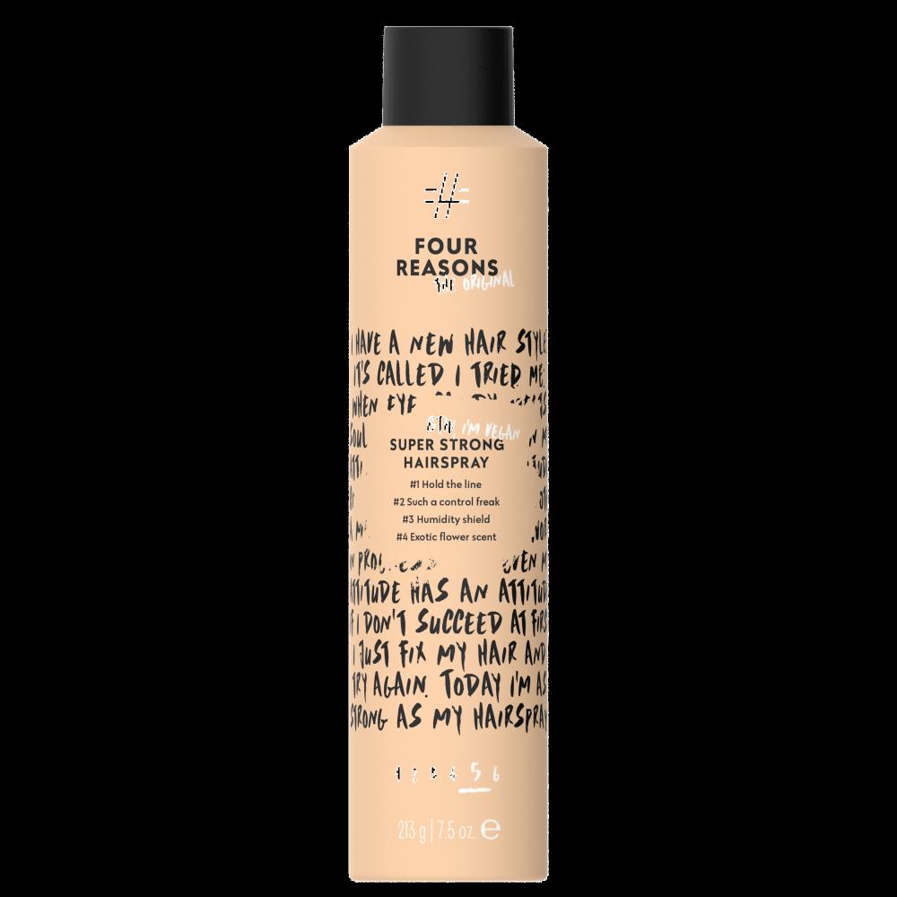 FOUR REASONS ORIGINAL Super Strong Hairspray itin stiprios fiksacijos plaukų lakas