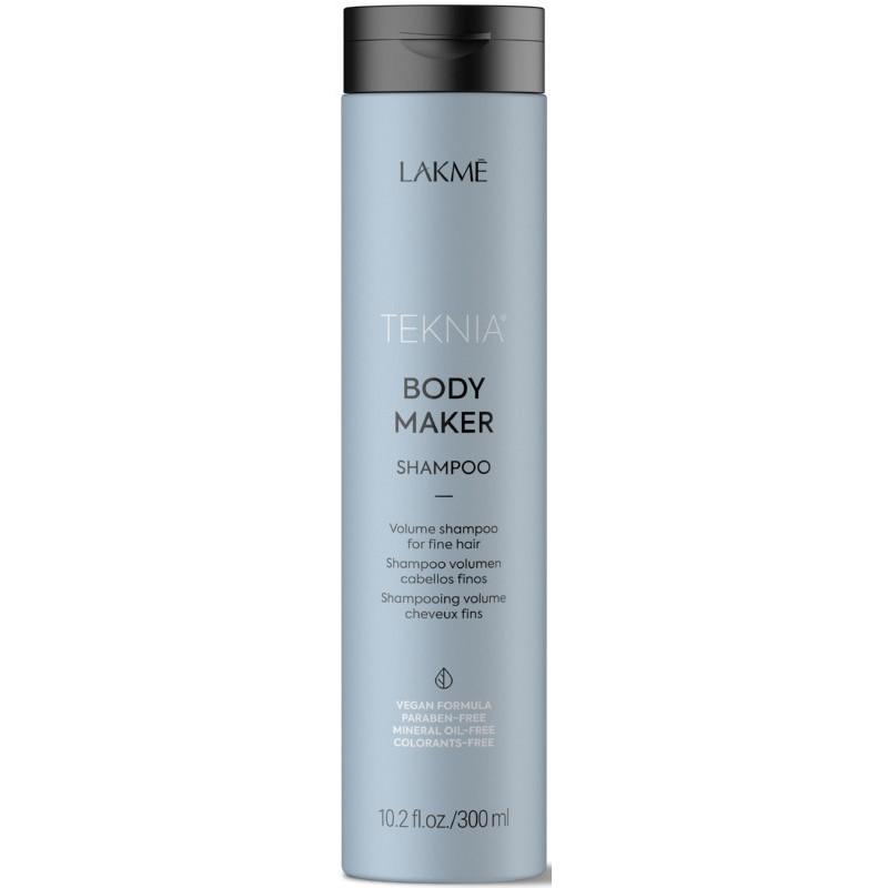 Apimties plaukams suteikiantis šampūnas Lakme Teknia Body Maker Shampoo, ploniems ir silpniems plaukams