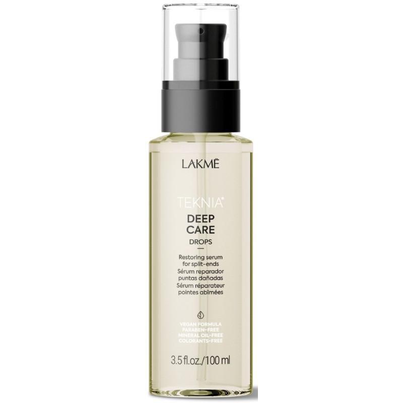 Atstatomasis serumas plaukams Lakme Teknia Deep Care Drops, sausiems ir lūžinėjantiems plaukams, 100 ml