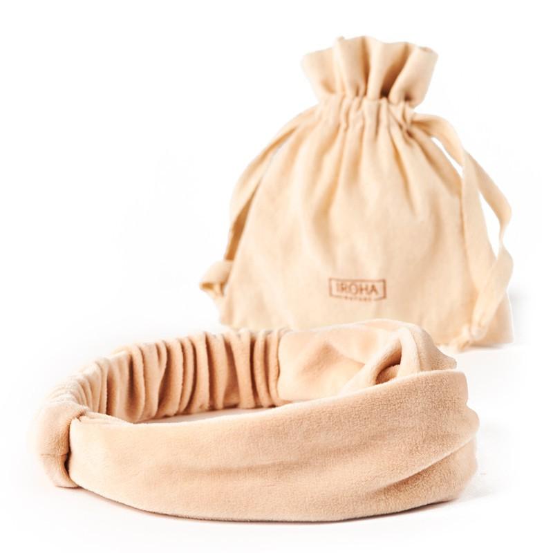 Galvos juosta Iroha Nature Headband IN/HEADB, smėlio spalvos
