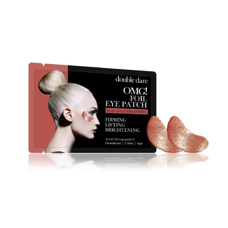 Paakių pagalvėlės OMG! Foil Eye Patch - Rose Gold Theraphy, OMG-EP-RG