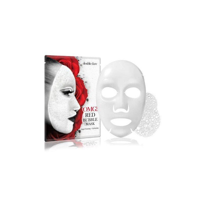 Valanti veido kaukė OMG! RED Bubble Mask, OMG-REDbubble